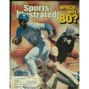 🏈Sports Illustrated 1987 Which Way Bo? KC or LA